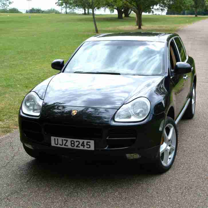 Porsche Cayenne 3 2 V6 Black With Tan Leather Interior Full Service
