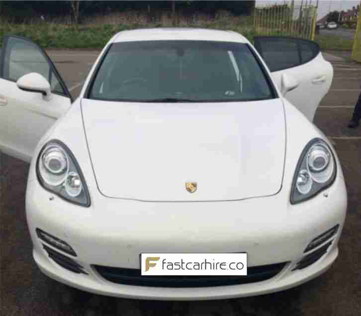 PORSCHE PANAMERA WHITE ***FOR HIRE NOT FOR SALE***