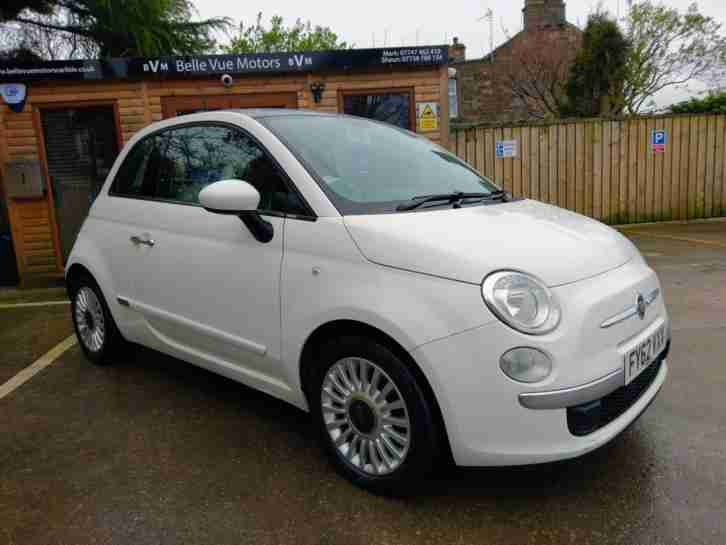 PRICE DROP 62 REG FIAT 500 1.2 ( 69bhp ) ( s s ) LOUNGE IN WHITE