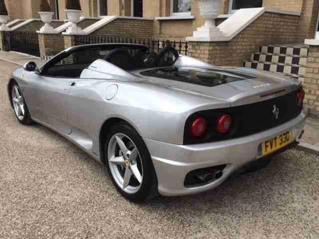 PRICED FOR QUICK SALE Manual Ferrari 360 Spider (360M) FSH, recent belts