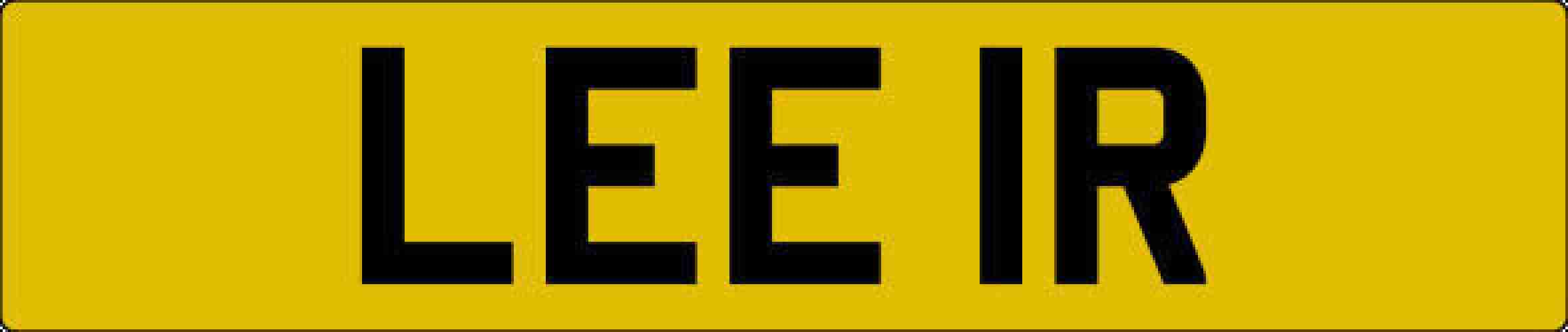 PRIVATE NUMBER PLATE FOR SALE ** LEE IR **