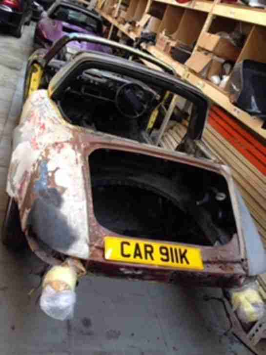 PROJECT PORSCHE 911 CARRERA TARGA 1984 BODY SHELL REG NO CAR 911K