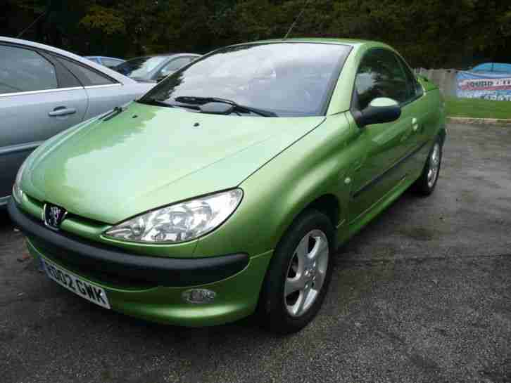 Peugeot 206 1 6 Auto 2002 Coupe Cabriolet S Green Full