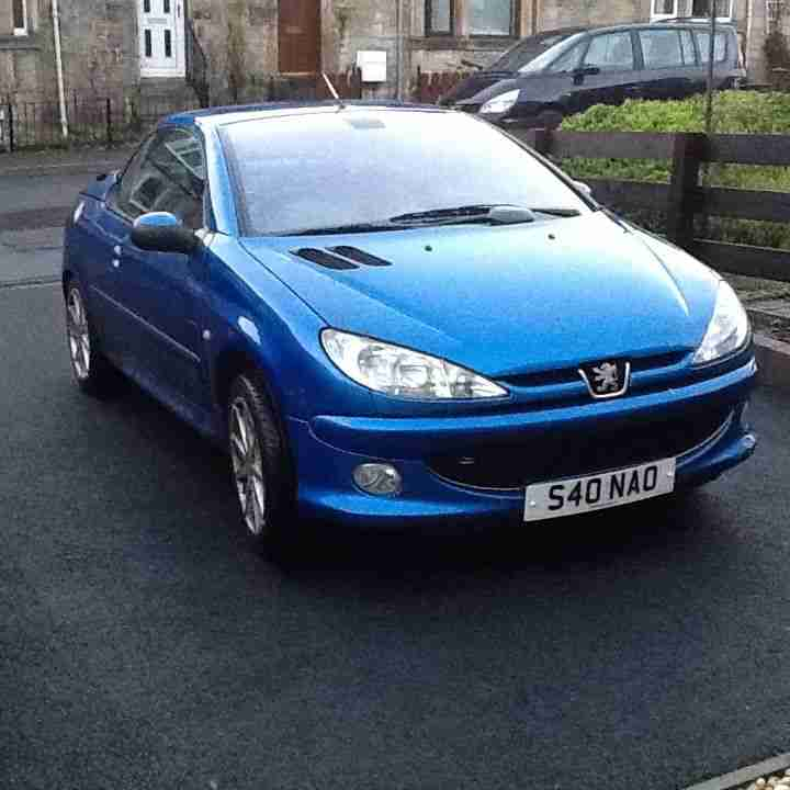 peugeot 206 cc 2 0 allure leather sports spec car for sale. Black Bedroom Furniture Sets. Home Design Ideas