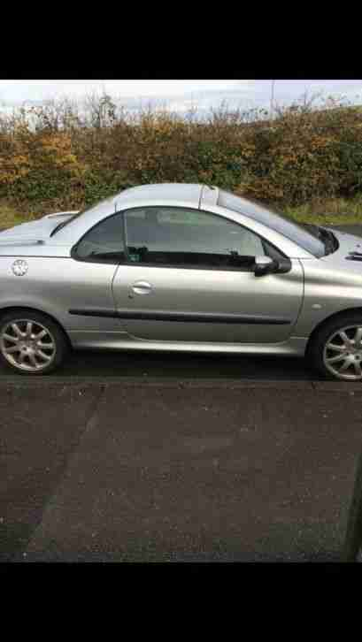 Peugeot 206CC sport. Peugeot car from United Kingdom