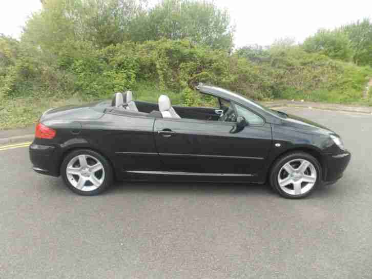 peugeot 307 cc 2 0 16v coupe convertible black petrol manual 2004 54. Black Bedroom Furniture Sets. Home Design Ideas