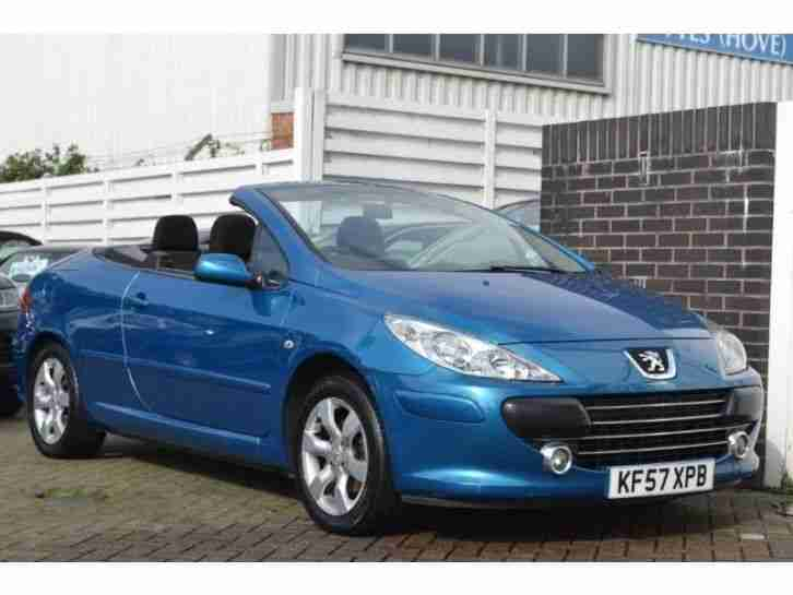 peugeot 307 cc s coupe cabriolet stunning example petrol manual 2007. Black Bedroom Furniture Sets. Home Design Ideas