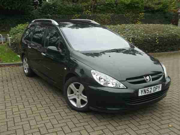 peugeot 307 sw 2 0hdi 110 7st fap dig a c 2002my se car for sale. Black Bedroom Furniture Sets. Home Design Ideas