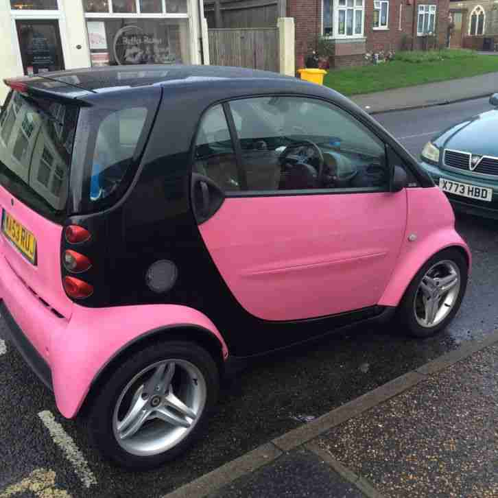 smart pink fortwo low mileage car for sale. Black Bedroom Furniture Sets. Home Design Ideas