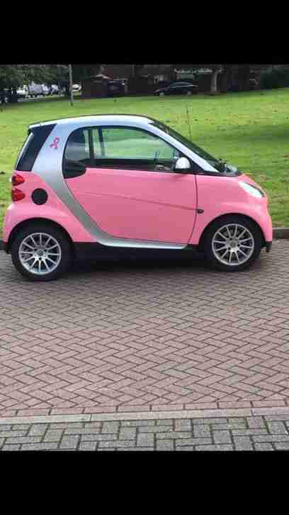 Smart Pink car. Smart car from United Kingdom