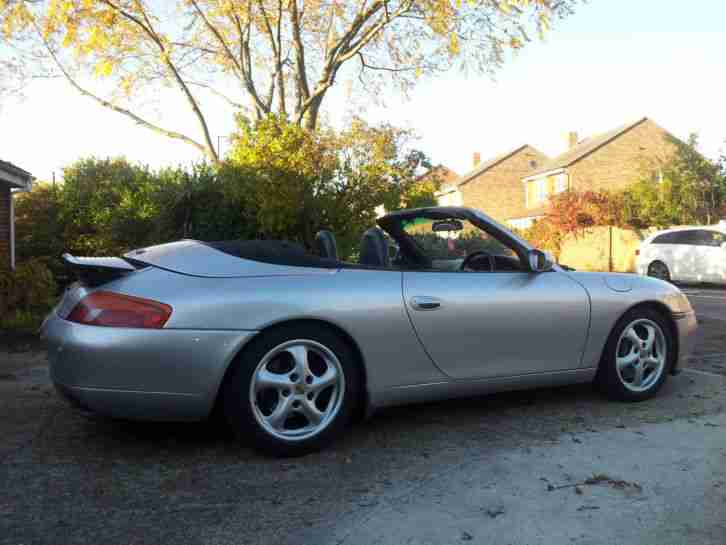 911 convertible 113K SILVER and black
