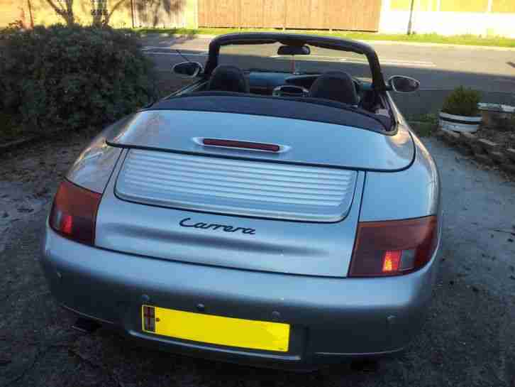 Porsche 911 convertible 113K SILVER and black leather 1998 S reg. NO RESERVE