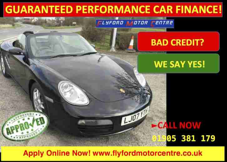 Porsche Boxster 2.7 2007MY - GUARANTEED PERFORMANCE CAR FINANCE