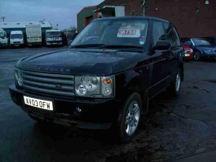 range rover vogue td6 auto 2003 in black av03 ofw car for sale. Black Bedroom Furniture Sets. Home Design Ideas