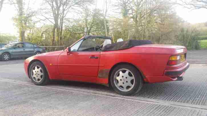 porsche rare 1990 944 s2 convertible cabriolet barn find spares car for sale. Black Bedroom Furniture Sets. Home Design Ideas