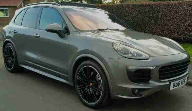 RARE 2016 METEOR GREY PORSCHE CAYENNE S 4.2 TD V8 AUTOMATIC FPSH FULLY LOADED