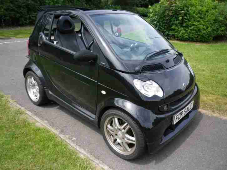 rare genuine 2005 05 convertible fortwo brabus 74 auto in black. Black Bedroom Furniture Sets. Home Design Ideas