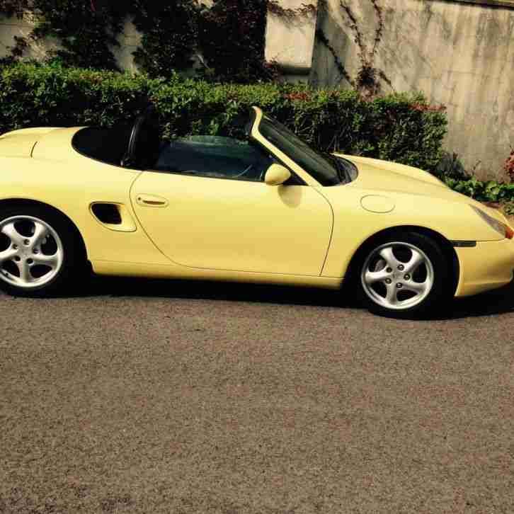Porsche Boxster Car: Porsche RARE YELLOW BOXSTER 1999. Car For Sale