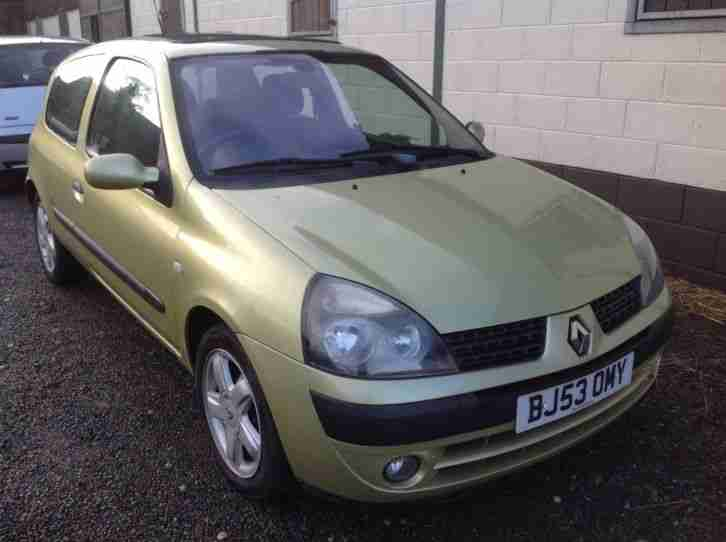 renault clio dynam billabong green 53 plate 3dr 1 4 75000 miles mot. Black Bedroom Furniture Sets. Home Design Ideas
