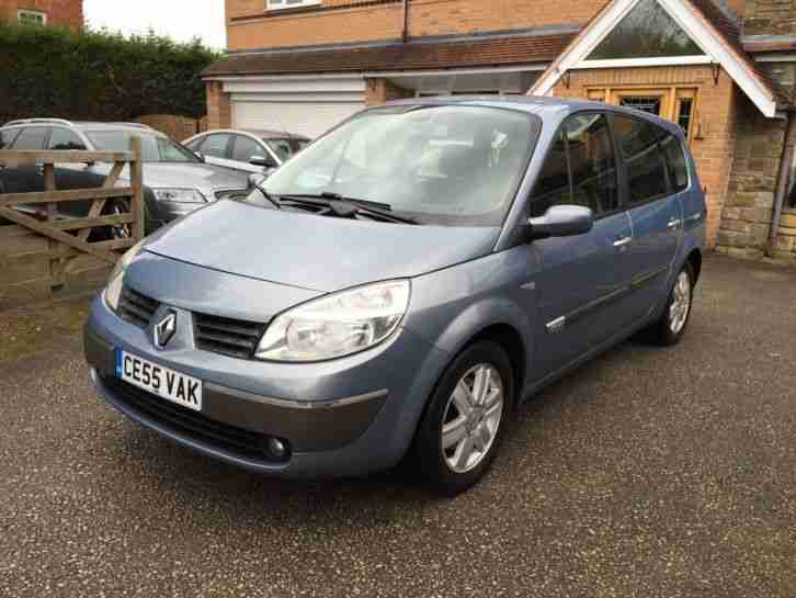 renault grand scenic 1 6 dynamique 7 seats 2005 55 mot 26 02 2016. Black Bedroom Furniture Sets. Home Design Ideas