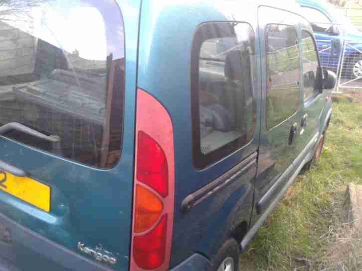 RENAULT KANGOO TREKKA 4X4 16V GREEN 2002 SPARES OR REPAIR