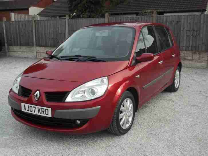 renault scenic dynamique vvt 5 door mpv 2007 petrol manual in red. Black Bedroom Furniture Sets. Home Design Ideas