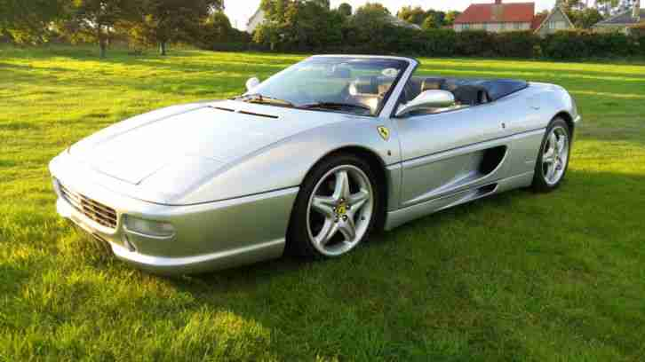 ferrari right hand drive silver blue f355 spider manual. Black Bedroom Furniture Sets. Home Design Ideas
