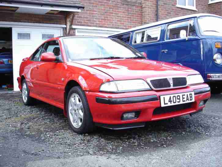 Rover 216 Auto Coupe 1994 Flame Red T Bar Roof Car For Sale