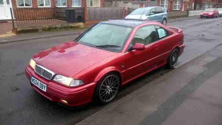 ROVER 220 TURBO COUPE TOMCAT 2.0 16V TURBO PEARLESCENT NIGHTFIRE RED M REG 102K
