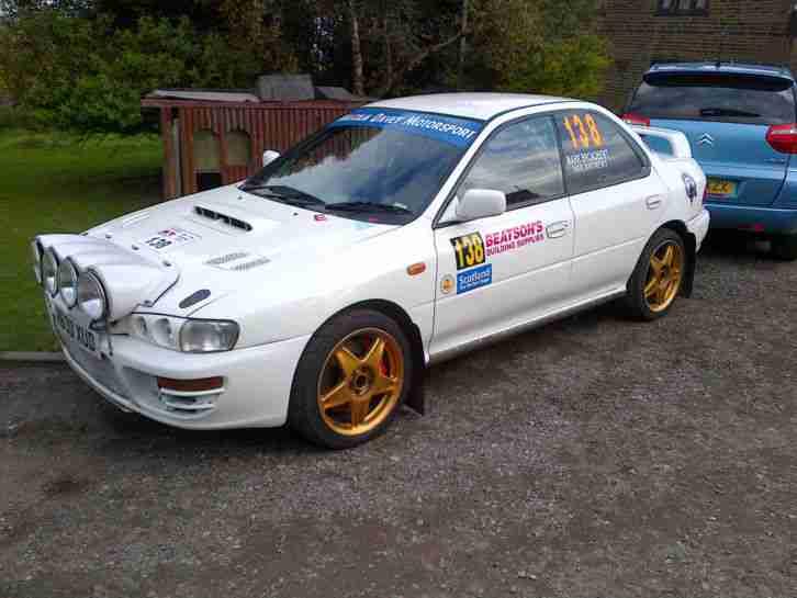 subaru rally car impreza gc8 classic stage rally prepared car for sale. Black Bedroom Furniture Sets. Home Design Ideas