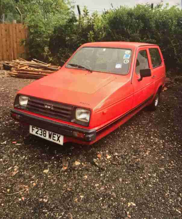 Reliant Red Robin. Reliant car from United Kingdom