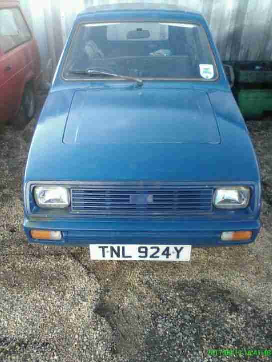 Reliant Robin 1983. Reliant car from United Kingdom