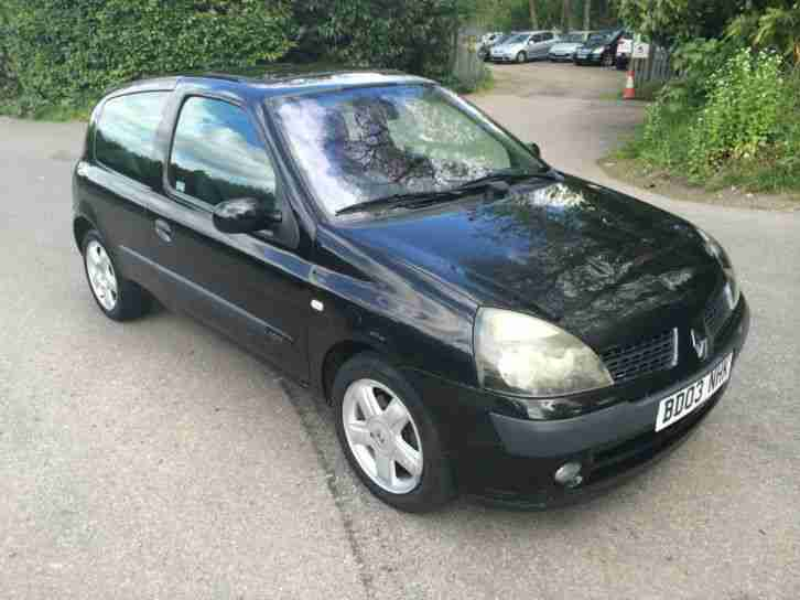 renault clio 1 2 16v dynamique new clutch 1 year mot car for sale. Black Bedroom Furniture Sets. Home Design Ideas