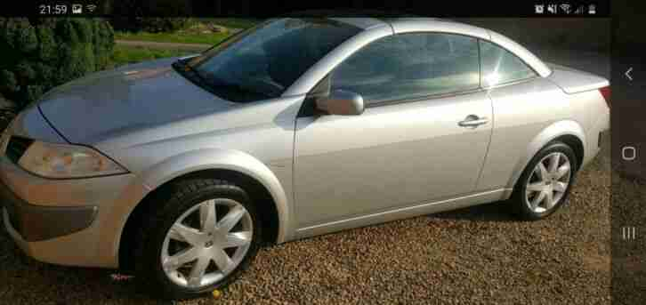 Renault Megane convertible. Renault car from United Kingdom