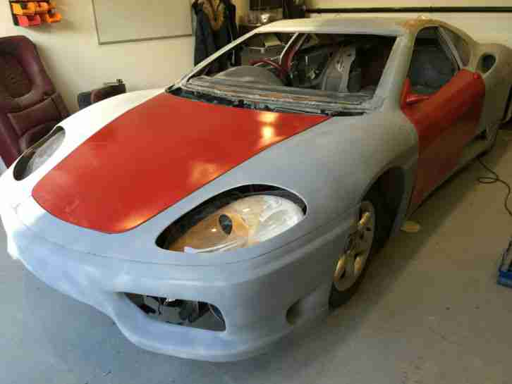 Ferrari Replica 360 Unfinished Project Car For Sale