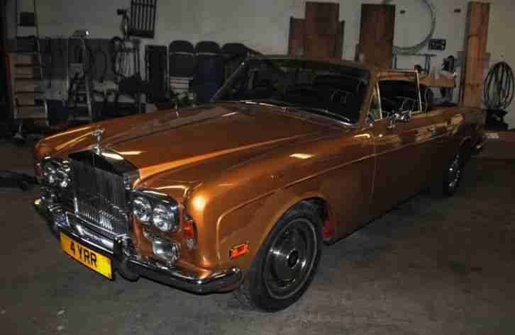 Rolls Royce Corniche 6.8 Convertible Project Gold Registration 4YRR