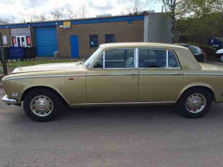 Rolls Royce Silver Shadow 1 March 1975 Gold with Black Leather - P/EX or SWAP