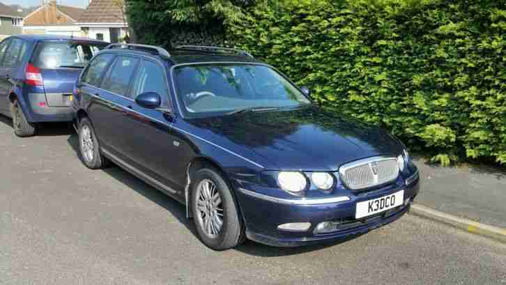Rover 75 Estate Low miles Blue. Years Mot