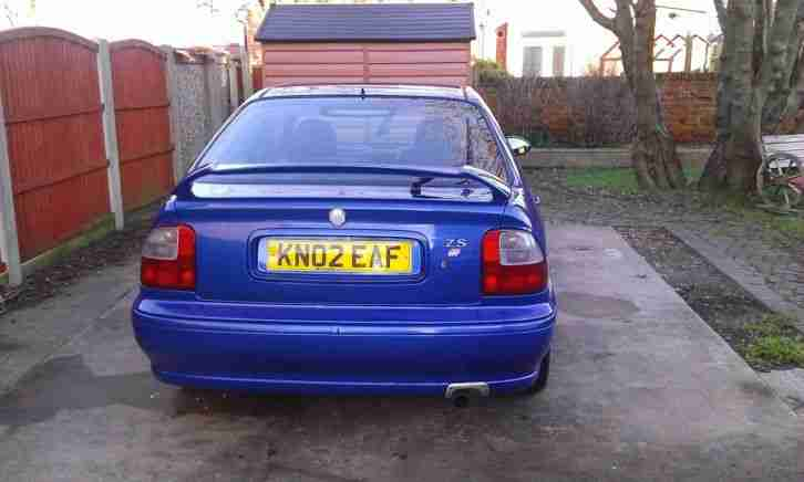 Rover MG ZS 1.8 16v in Trophy blue 2002