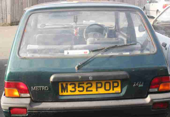 Rover Metro SUPERB CONDITION barn find cherished reg plate M35 2 POP