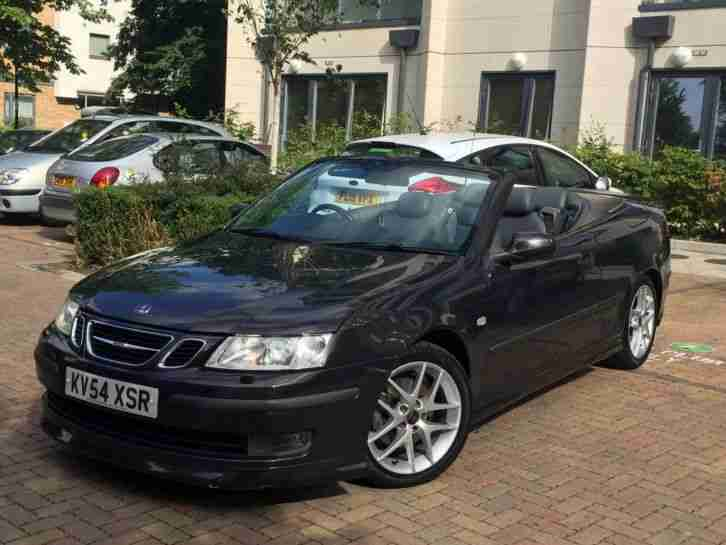 saab 9 3 aero convertible 2005 mil black car. Black Bedroom Furniture Sets. Home Design Ideas