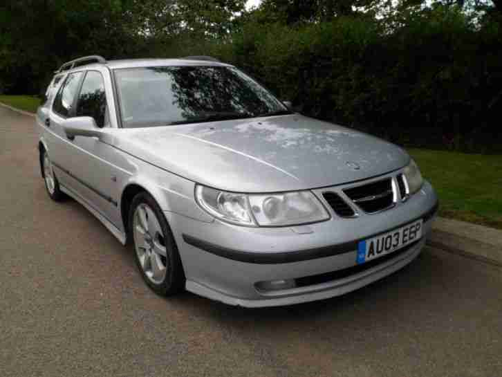 SAAB 9 5 VECTOR 2.2 TID130 BHP ESTATE LEATHER AIR SATNAV CLEAN CAR 2003