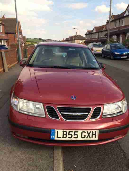 SAAB 95 2.0t IN RED TESTED OCT 26th All leather interior