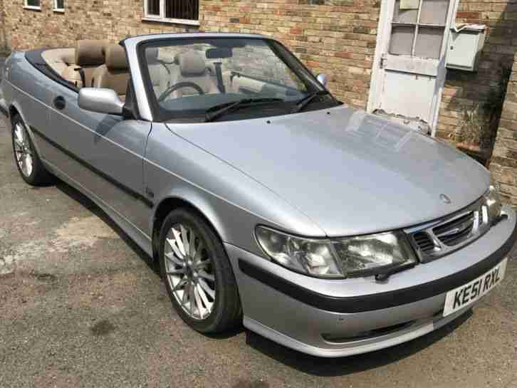 SAAB CONVERTIBLE 9 3 AUTO 2.0 TURBO CONVERTABLE L@@K
