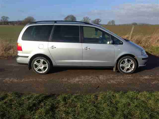 SEAT ALHAMBRA 2.0 DIESEL 7 SEATER IN SILVER GUARANTEED CAR FINANCE BAD CREDIT