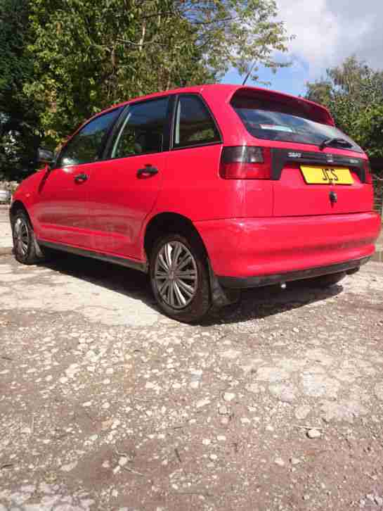SEAT IBIZA RED 5 DOOR 1.4 1400 LONG MOT PX W.H.Y VIEW N.WALES OR WEST MIDS