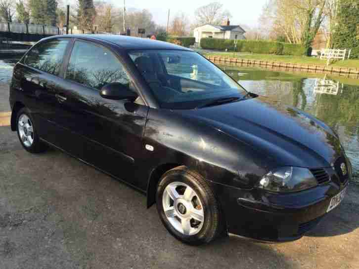 seat ibiza 1 2i 12v 2004 black petrol car for sale. Black Bedroom Furniture Sets. Home Design Ideas
