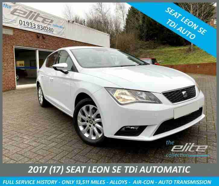 SEAT LEON 1.6 TDi 110 DSG AUTO SE ONLY ONE OWNER