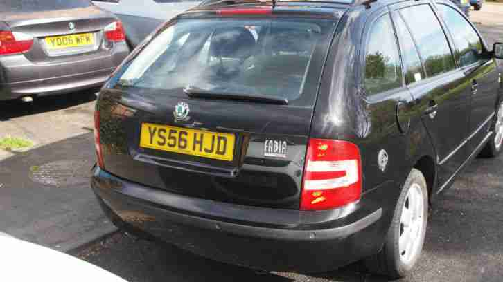 SKODA FABIA 1.4 ELEGANCE 16V 100 BLACK WITH LPG 2007