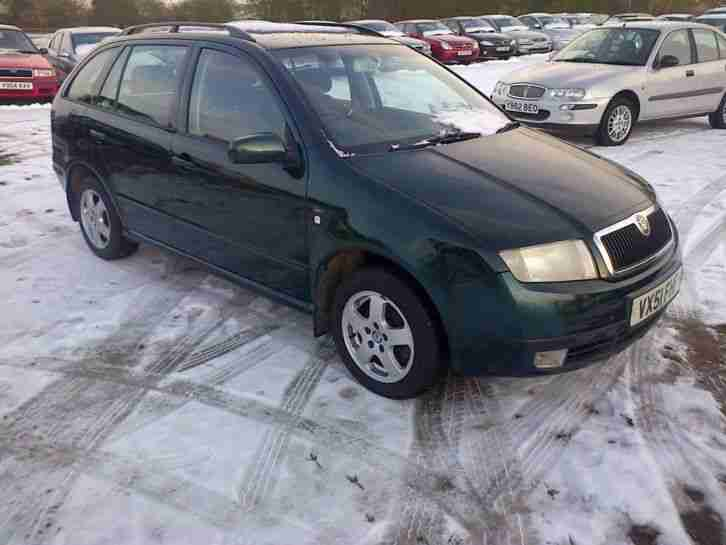SKODA FABIA ESTATE IN GREEN METALIC MOT TILL FEBUARY 2015 READY TO DRIVE AWAY